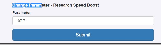 Changing the Research Speed Boost