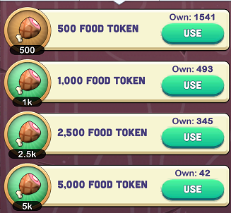 Kingdoms of Heckfire Food Tokens