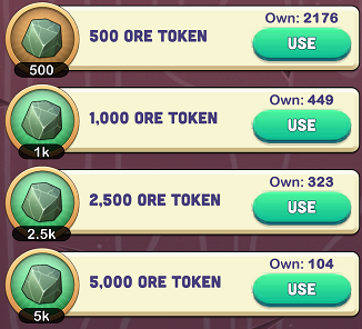 Kingdoms of Heckfire Ore Tokens